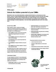 White paper: Unlock the hidden potential of your CMMs
