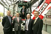 Business Minister Mark Prisk with Chris Pockett & other exhibitors