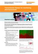 Application note: Transmission Raman for monitoring pharmaceuticals